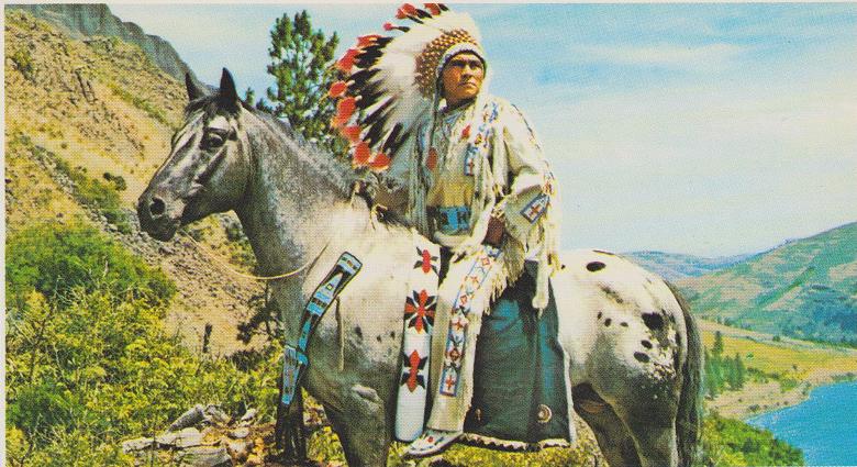 Jesse Redheart riding his stallion Easter Bar