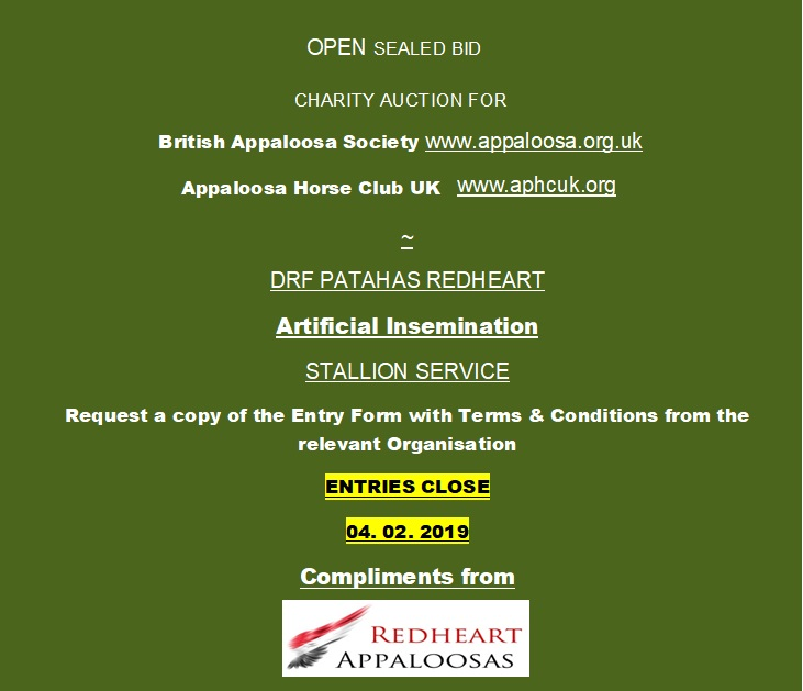 2019 CHARITY AUCTION FOR ARTIFICIAL INSEMINATION BY DRF